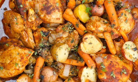 One-Pot Paprika Chicken Thighs and more on @worthminer